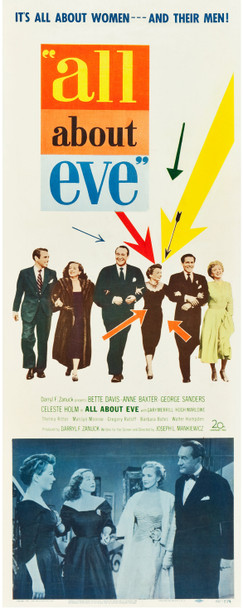 ALL ABOUT EVE (1950) 24017   Bette Davis as Margot Channing Film Poster Original Insert Poster (14x36)  Fine Plus Condition