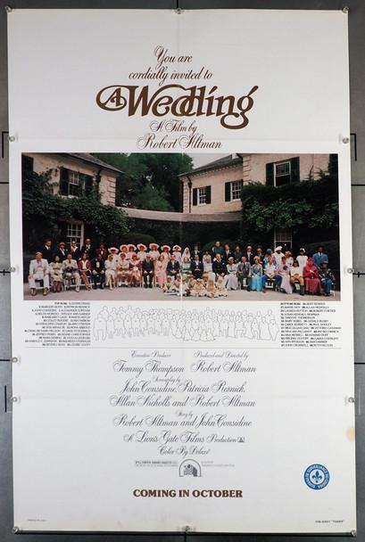 WEDDING, A (1978) 29337   Robert Altman Movie Poster 20th Century Fox Original Teaser One-Sheet Poster (27x41)  Folded  Very Good Plus Condition