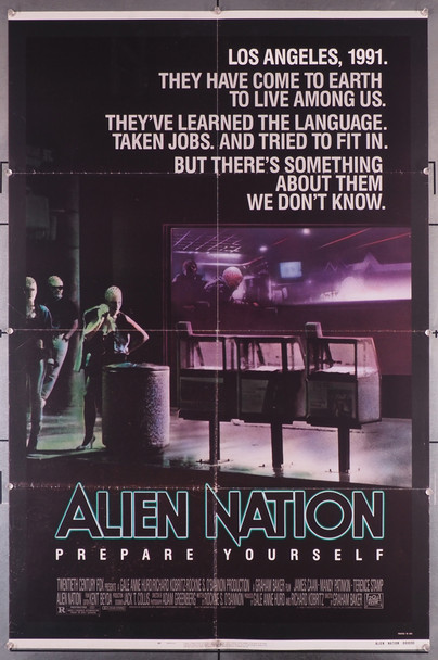 ALIEN NATION (1988) 16179    Science Fiction  Graham Baker  Movie Poster Original U.S. One-Sheet Poster (27x41) Folded  Very Good Plus to Fine Condition