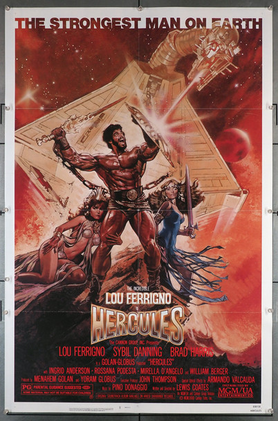 HERCULES (1983) 29210   Lou Ferrigno  Movie Poster Original U.S. One-Sheet Poster 27x41. Poster is folded and in very fine condition.