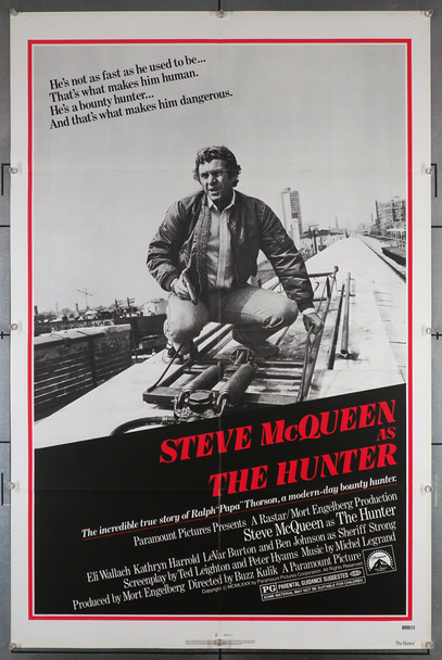 HUNTER, THE (1980) 29217   Steve McQueen Movie Poster Paramount Pictures Original U.S. Insert Poster (27x41) Folded and in Very Fine condition.