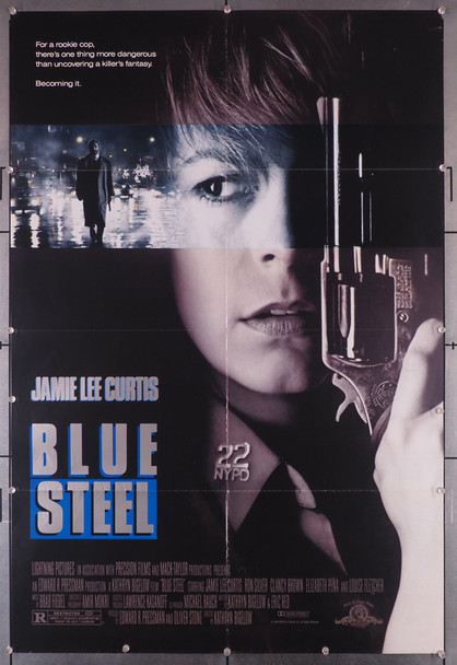 BLUE STEEL (1990) 8248   JAMIE LEE CURTIS   KATHRYN BIGELOW  Movie Poster Original U.S. One-Sheet Poster (27x41) Folded  Very Good Plus Condition