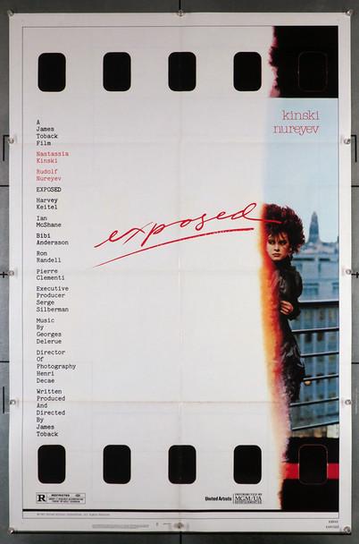 EXPOSED (1983) 16176   Nastassja Kinski Movie Poster Original U.S. One-Sheet Poster (27x41)  Fiolded  Very Good Plus Condition