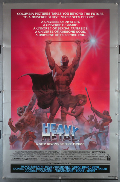 HEAVY METAL (1981) 29355   Animation Art by Richard Corben movie poster Original U.S. One-Sheet Poster  Style B  Folded   Art by Richard Corben