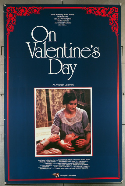 ON VALENTINE'S DAY (1986) 410   William Converse-Roberts   Matthew Broderick   Hallie Foote  Movie Poster Original U.S. One-Sheet Poster (27x41) Rolled  Very Good Plus to Fine Condition
