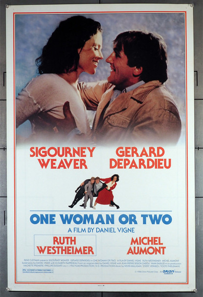ONE WOMAN OR TWO (1985) 405   Sigourney Weaver   Gerard Depardieu  Movie Poster Original U.S. One-Sheet Poster (27x41) Rolled  Fine Condition