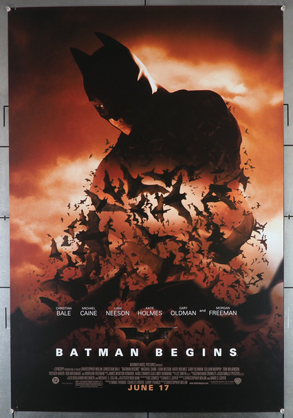 BATMAN BEGINS (2005) 25907   Christian Bale Movie Poster  Double-Sided Original U.S. One-Sheet Poster (27x40)  Double Sided  Very Fine Condition