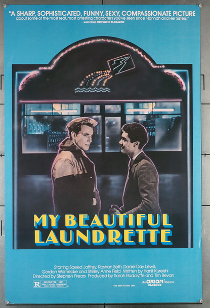 MY BEAUTIFUL LAUNDRETTE (1986) 493   Daniel Day-Lewis  Gordon Warnecke Movie Poster Original U.S. One-Sheet Poster (27x41) Rolled  Fine Plus Condition