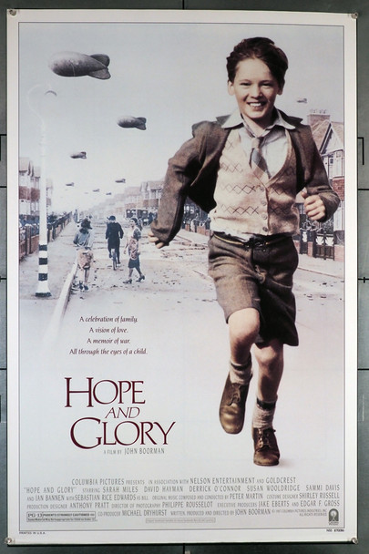 HOPE AND GLORY (1987) 474   John Boorman Movie Poster Original U.S. One-Sheet Poster (27x41) Rolled, Never Folded  Very Fine Condition