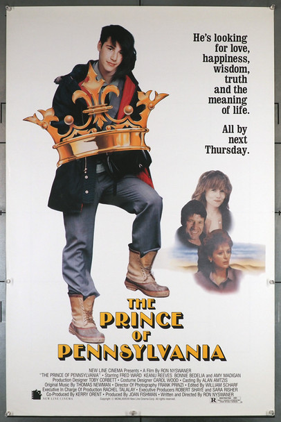 PRINCE OF PENNSYLVANIA, THE (1988) 23642   Keanu Reeves Movie Poster Original U.S. One-Sheet Poster (27x41)  Rolled  Never Folded  Fine Plus Condition