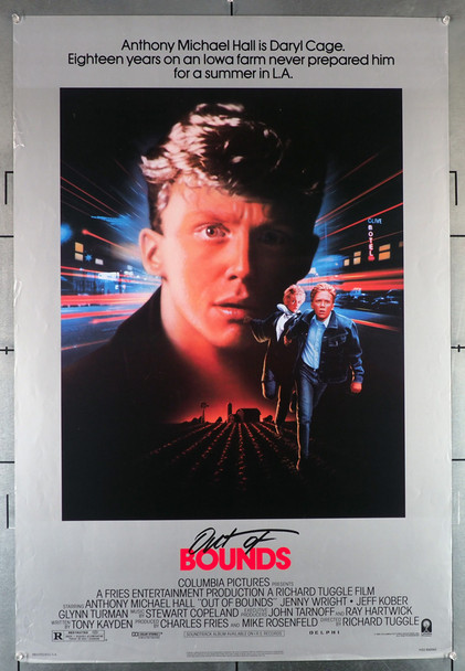 OUT OF BOUNDS (1986) 404  Anthony Michael Hall Movie Poster Original U.S. One-Sheet Poster (27x41) Rolled  Fine Plus