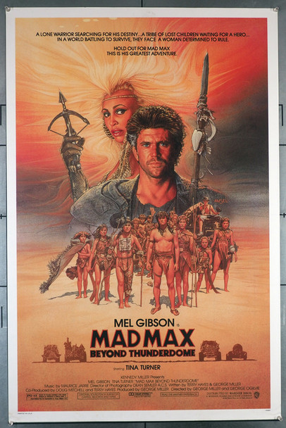 MAD MAX BEYOND THUNDERDOME (1985) 292  Mel Gibson  Tina Turner  George Miller Movie Poster  Art by Richard Amsel Original U.S. One-Sheet Poster 27x41 Rolled Fine Plus Condition