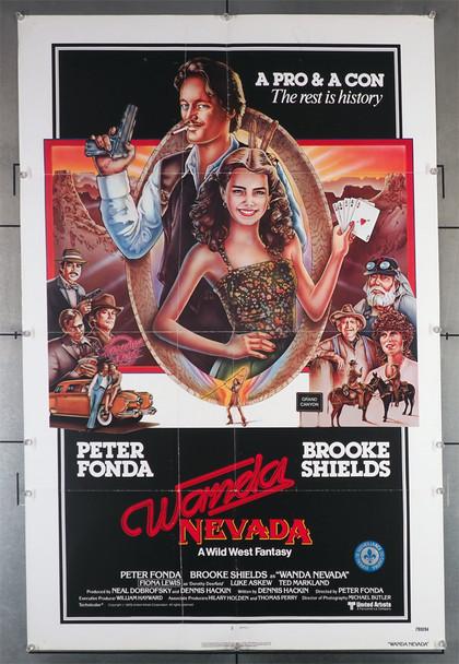 WANDA NEVADA (1979) 29335  Peter Fonda   Brooke Shields  Movie Poster Original United Artists One-Sheet Poster  (27x41) Folded  Very Fine Plus Condition.