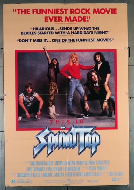 THIS IS SPINAL TAP (1984) 29324  Monumental Mockumentary Movie Poster Original U.S. One-Sheet Poster (27x41). This poster is folded and in Fine Plus Condition.