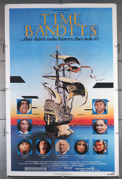 TIME BANDITS (1981) 29327 Original AVCO Embassy Pictures One Sheet Poster (27x41).  Folded And in Fine Plus Condition.