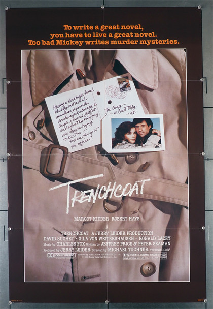 TRENCHCOAT (1983) 29330   Margot Kidder   Robert Hays  Movie Poster Original U.S. One-Sheet Poster (27x41). This poster is folded and in fine plus condition.