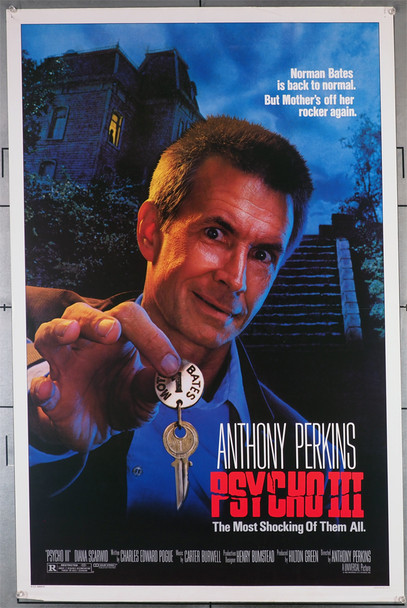 PSYCHO III (1986) 64  Anthony Perkins Movie Poster Original U.S. One-Sheet Poster (27x41) Rolled  Fine Plus Condition