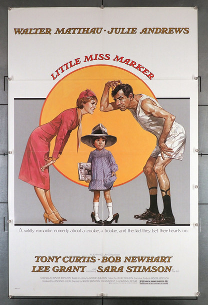 Little Miss Marker (1980) 29227   Walter Matthau  Julie Andrews  Sara Stimson  Movie Poster Original U.S. One-Sheet Poster (27x41) Folded and in Fine Plus Condition
