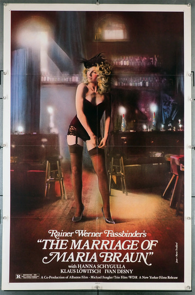 the marriage of maria braun (1979) 29252 ORIGINAL U.S. ONE-SHEET POSTER (27X41). THIS POSTER IS FOLDED AND IN FINE PLUS CONDITION.