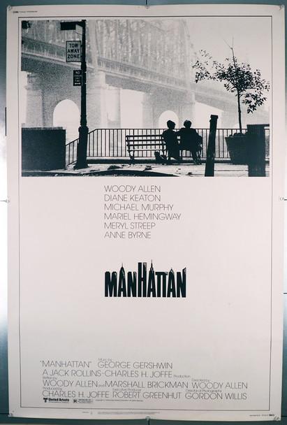 MANHATTAN (1979) 7072   Woody Allen   Diane Keaton  Movie Poster   40x60 Poster Original U.S. Style B 40x60 Poster   Rolled  Fine Plus Condition