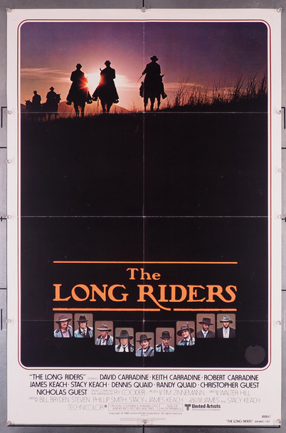 LONG RIDERS, THE (1980) 29239  Walter Hill Movie Poster Original U.S. One-Sheet Poster (27x41)  Folded  Fine Plus to Very Fine Condition