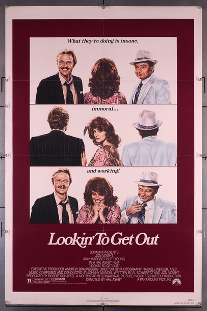 LOOKIN' TO GET OUT (1982) 29240   Jon Voight   Ann-Margret   Burt Young   Hal Ashby  Movie Poster Original U.S. One-Sheet Poster (27x41) Folded  Very Fine Condition