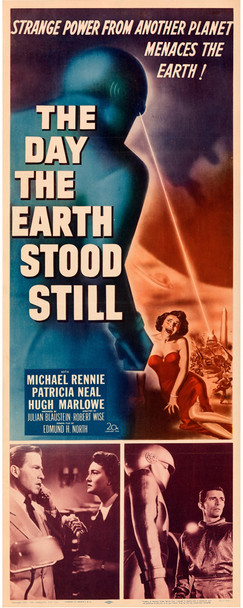 DAY THE EARTH STOOD STILL, THE (1951) 29378 Original U.S. Insert Poster (14x36)  Folded  Fine Plus Condition
