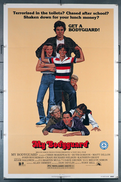 MY BODYGUARD (1980) 29263   Matt Dillon  Chris Makepeace  Movie Poster Original U.S. One-Sheet Poster (27x41) Folded and in fine condition plus.