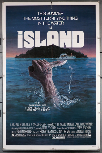 The Island (1980) 29225   Michael Caine   David Warner  Movie Poster Original U.S. One-Sheet Poster (27x41) Folded  Very Fine Condition