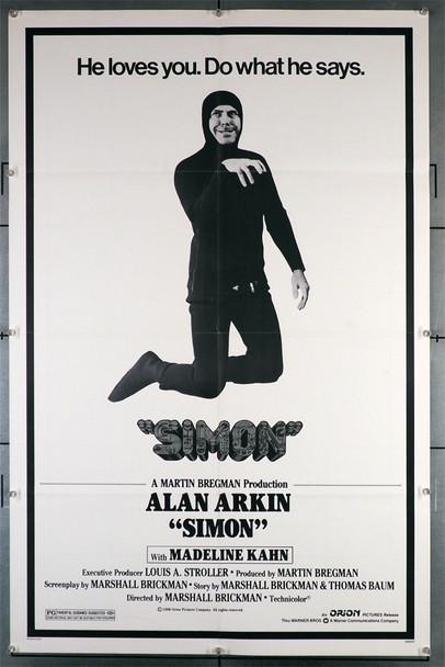 SIMON (1980) 29299 Original U.S. One-Sheet Poster (27x41)  Folded  Fine Plus Condition