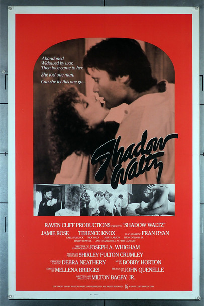 "REBEL LOVE (1985) 458  a.k.a. ""SHADOW WALTZ""  Jamie Rose   Terence Knox  Movie Poster Original U.S. One-Sheet Poster (27x41)  Rolled Never Folded  Fine Plus Condition"