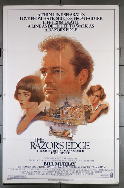 RAZOR'S EDGE, THE (1984) 29287  Bill Murray Movie Poster Columbia Pictures Original U.S. One-Sheet Poster (27x41) Folded.  Very Fine Condition