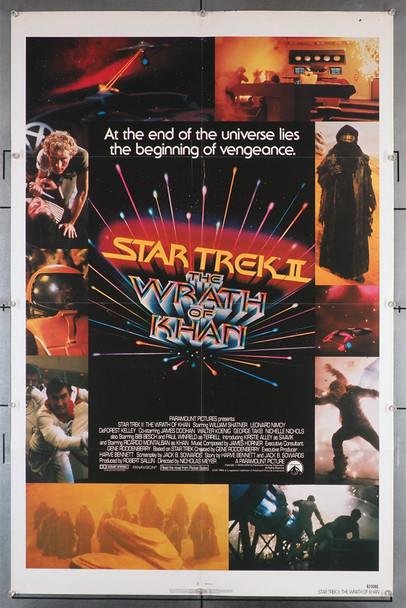 STAR TREK II:THE WRATH OF KHAN (1982) 29309  Movie Poster Original U.S. One-Sheet Poster (27x41) Folded  Fine Plus Condition