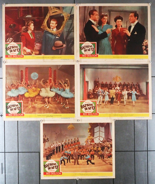 BATHING BEAUTY (1944) 6743   Esther Williams Lobby Cards  Five Cards Original U.S. Lobby Cards  Five Individual Cards  Very Fine Condition