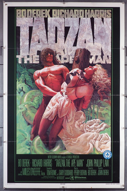TARZAN, THE APE MAN (1981) 29319  Bo Derek   Miles O'Keefe  Movie Poster  Art by James H. Michaelson Original U.S. One-Sheet Poster (27x41) Folded  Fine Plus Condition