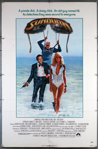 SUNBURN 1979) 29317  Bo Derek  Charles Grodin  Art Carney Movie Poster   Art by Morgan Kane Original U.S. One-Sheet Poster (27x41). This poster is folded and is very good plus condition