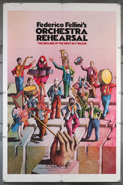 PROVA D'ORCHESTRA (1979) 29281  Federico Fellini Movie Poster   Gaumont Original American One-Sheet Poster (27x41) Folded  Very Fine Condition