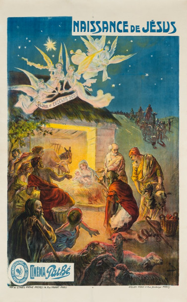 NAISSANCE de JESUS    (1914) 28815 Pathe Freres Original Poster  55x85  Linen Backed  Fine Plus Condition