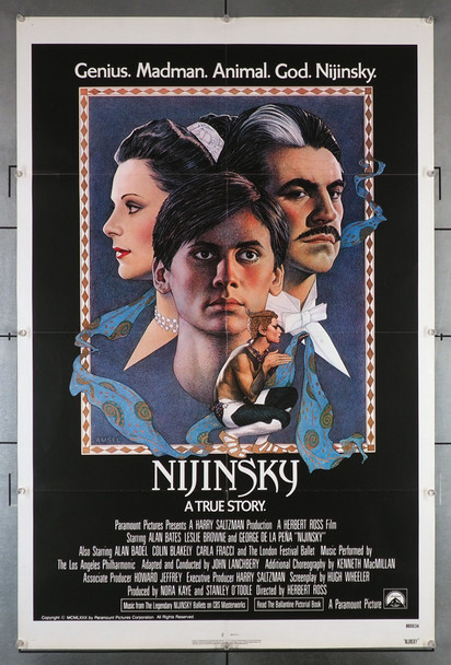 NIJINSKY (1980) 29266 NIJINSKY FILM POSTER IS A MOVIEART ORIGINAL FILM POSTER (27X41). THIS POSTER IS FOLDED AND IN FINE PLUS CONDITION.
