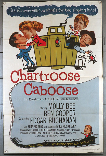 CHARTROOSE CABOOSE (1960) 11460  Molly Bee   Edgar Buchanan  Movie Poster Original U.S. One-Sheet Poster (27x41)  Folded  Fine Condition