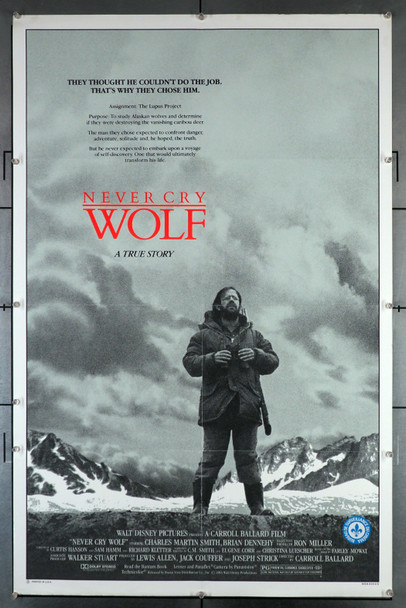 NEVER CRY WOLF (1983) 29265  Charles Martin Smith Movie Poster Original U.S. One-Sheet Poster (27x41)  Folded  Fine Plus Condition  Censor Stamp