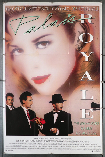 PALAIS ROYALE (1988) 29272   Kim Catrall Movie Poster Original U.S. One-Sheet Poster (27x41) Folded  Fine Plus Condition