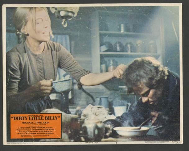 DIRTY LITTLE BILLY (1972) 8404  Michael J. Pollard Lobby Card   as Billy the Kid Original U.S. Scene Lobby Card (11x14)  Average Used Condition