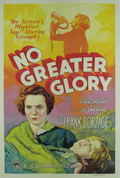 NO GREATER GLORY (1934) 7593   George Breakston  Lois Wilson   Frankie Darro  Jimmy Butler Movie Poster Original Columbia Pictures One Sheet Poster (27x41). Stone Lithograph. Linen-Backed. Near Mint.