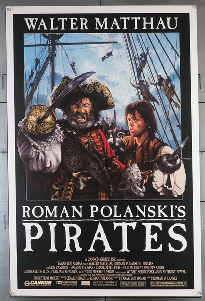 PIRATES (1986) 430   Walter Matthau   Cris Campion   Roman Polanski  Movie Poster Original U.S. One-Sheet Poster (27x41) Rolled  Fine Plus to Very Fine