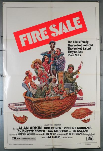 FIRE SALE (1977) 2358  Rob Reiner  Sid Caesar  Alan Arkin  Bill Henderson   Movie Poster Original U.S. One-Sheet Poster (27x41) Folded  Fine Plus Condition
