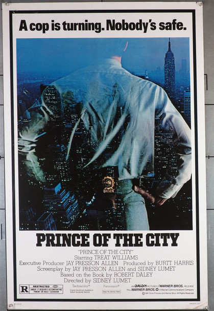 PRINCE OF THE CITY (1981) 433   Treat Williams  Sidney Lumet  Movie Poster Original U.S. One-Sheet Poster (27x41) Rolled  Never Folded