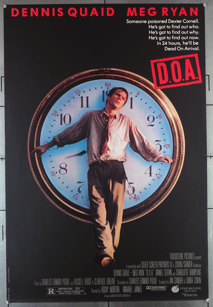 D.O.A. (1988) 515   Dennis Quaid Movie Poster Original U.S. One-Sheet Poster (27x41) Rolled Never Folded  Fine Plus