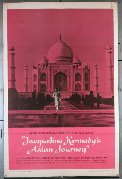JACQUELINE KENNEDY'S ASIAN JOURNEY (1962) 2361 Original U.S. One-Sheet Poster (27x41)  Folded  Very Good Plus to Fine Condition
