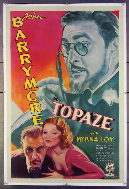 TOPAZE (1933) 26621 Original U.S. One-Sheet Poster (27x41)  Linen-Backed  Fine Plus Condition